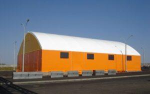 каркасно-тентовое сооружение для накрытие склада